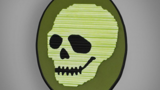 Glow-in-the-Dark Skeleton Decor Using Dowel Rods