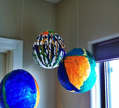 how to make paper mache balls