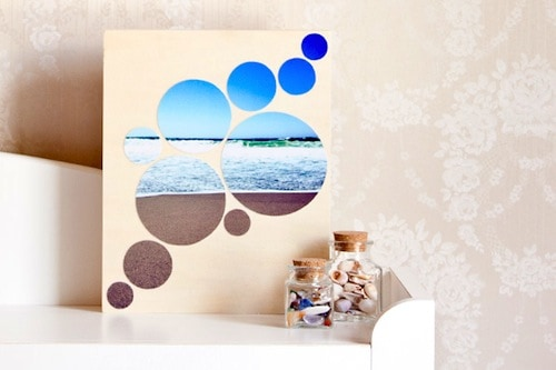 Photo mosaic wall art