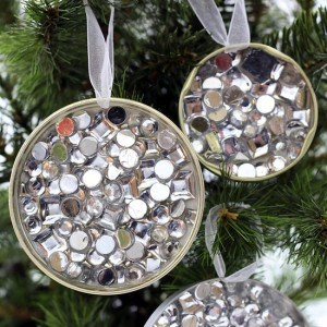 DIY bedazzled ornaments for Christmas