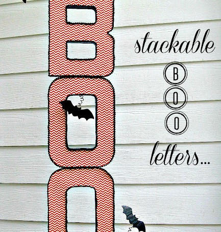 Mod Podge Halloween boo letters