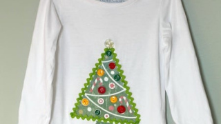 Photo Transfer DIY Christmas Shirt for Kids