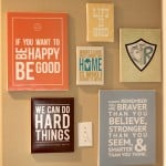 Are you a fan of inspirational quotes? Turn them into DIY quote art with the help of Mod Podge. They look great in collections!