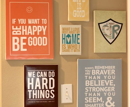 Make your own quote wall art