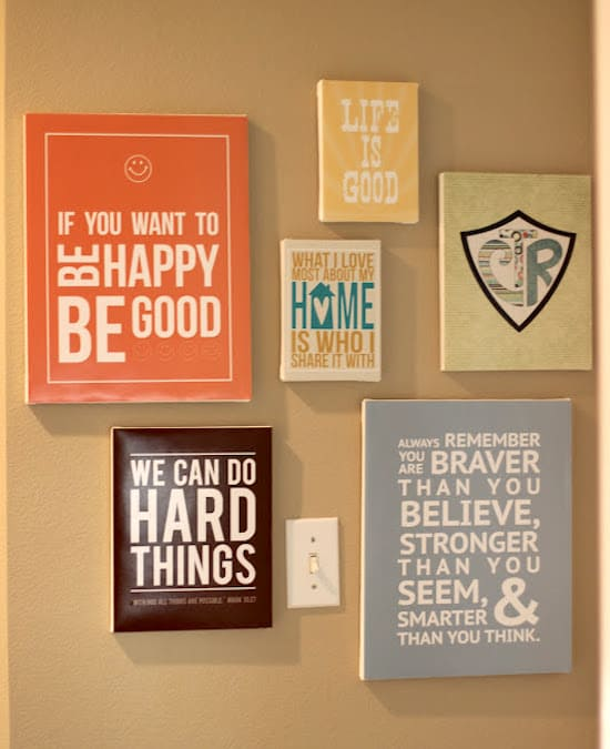 Inspirational Quotes Wall Art make diy quote art on canvas - mod podge rocks