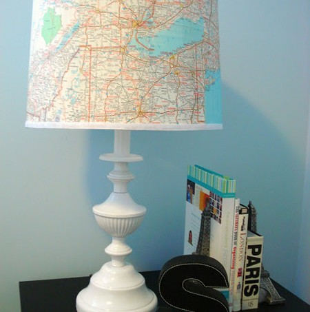 Don't pass the lamp section by the next time you are in the thrift store - you can make this map lamp with a few simple ingredients, including Mod Podge.