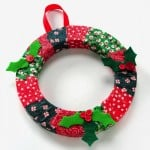 DIY wreath Christmas kids' craft