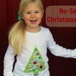 Mod Podge no-sew Christmas shirt using a photo transfer