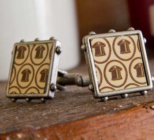 Mod Podged cuff links