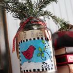 Mason Jar Christmas Vase