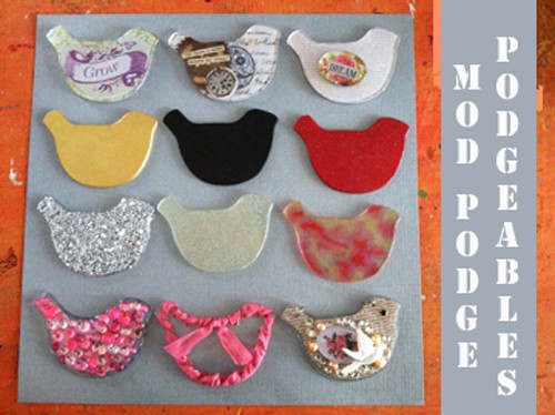 Altering Mod Podge Podgeables