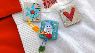 Easy Winter Crafts for Kids: Snow Pins
