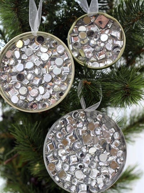 Recycled ornaments for Christmas