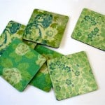 Easy Mod Podge coasters made from dollar supplies