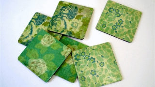 Mod Podge Coaster Craft on a Budget