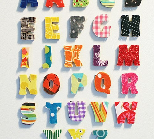 fabric alphabet magnets