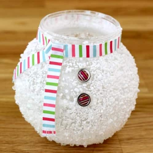Unique Snowman Crafts: Epsom Salt Votive