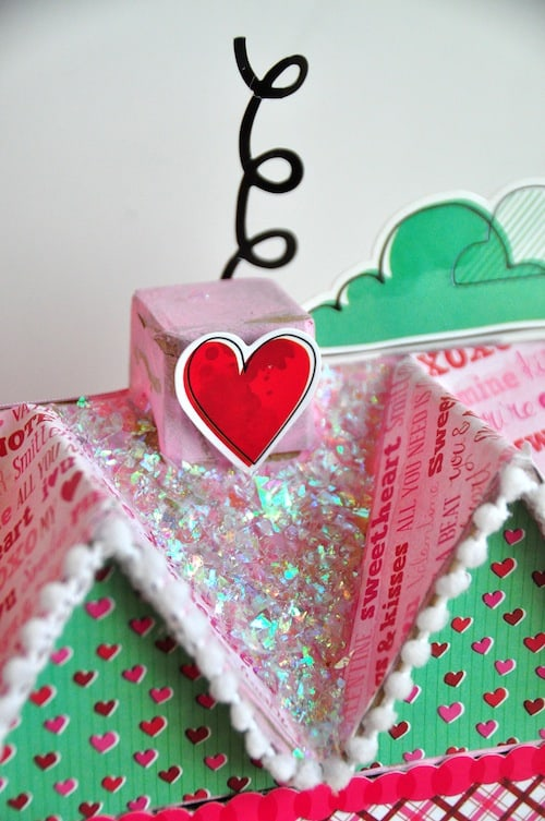 Add some love to your holiday decor with this DIY Valentine's Day paper mache house! Alter with all sorts of pretty embellishments.