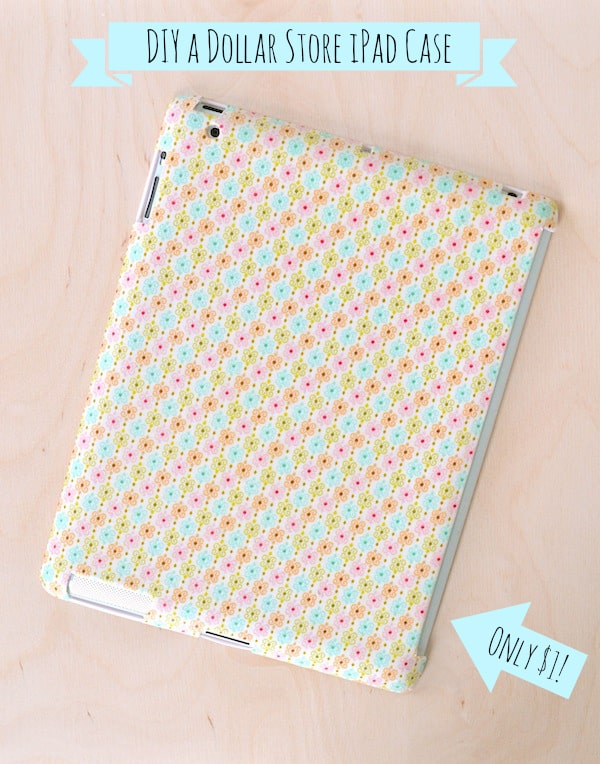 DIY iPad case for a dollar - made with Mod Podge