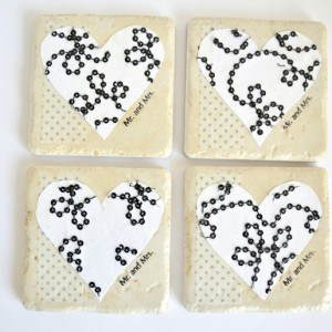 Mod Podge heart coasters tutorial