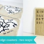 Mod Podge coasters tutorial - two ways