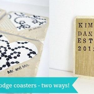 Mod Podge coasters tutorial – two ...