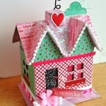 This Valentine's Day craft is so cute! Revamp a paper mache house using your favorite themed papers and Mod Podge. Makes perfect mantel decor.