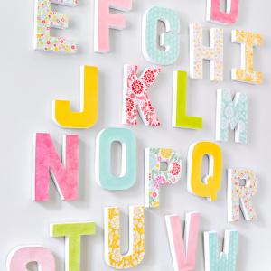 Cardboard letters