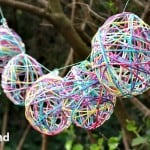 Easy Easter Garland Made with Yarn