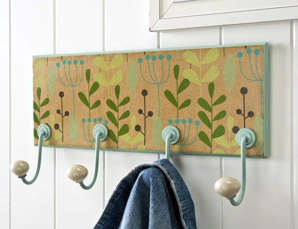 Floral DIY Coat Rack
