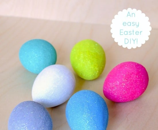 How to make Mod Podge glitter eggs - an easy Easter DIY