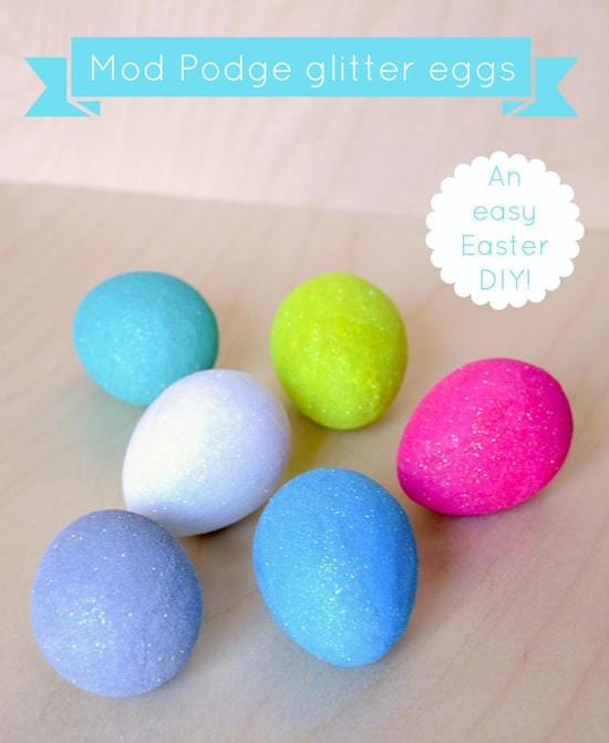 Easy Easter Decorations: Glitter Eggs