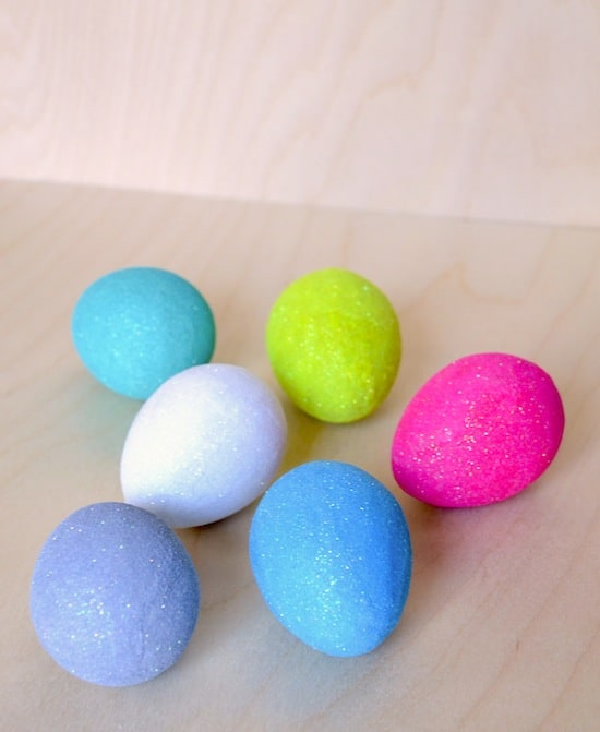 How to make Mod Podge glitter eggs