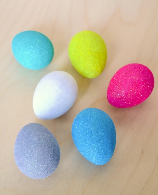 Mod Podge glitter Easter Eggs