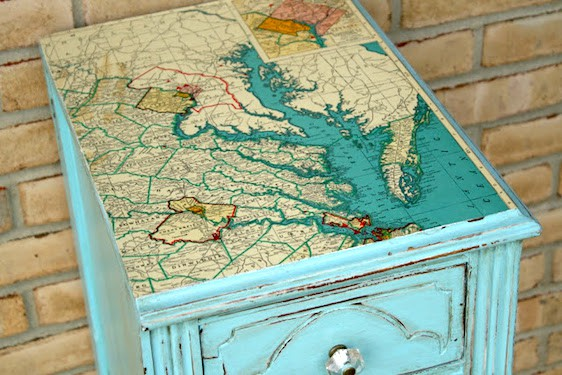 Mod Podge map table