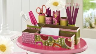 Make a DIY Desk Organizer from Recycled Materials