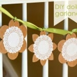 spring craft - diy doily garland