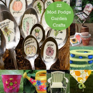 22 Mod Podge garden crafts