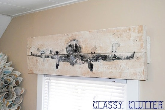 How to make a DIY wood valance