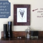 Make a faux leather decoupage frame