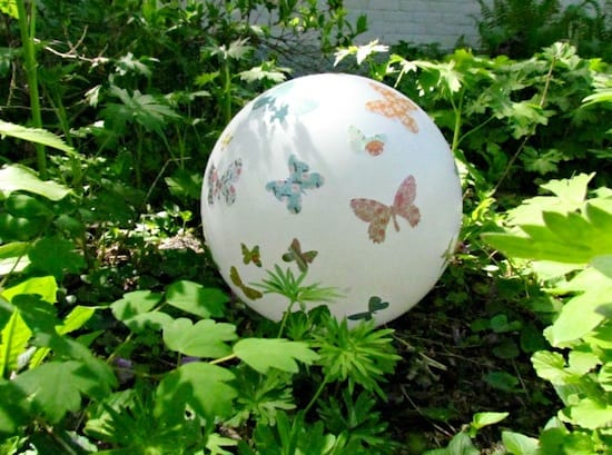 Decorate a Gazing Ball with Mod Podge