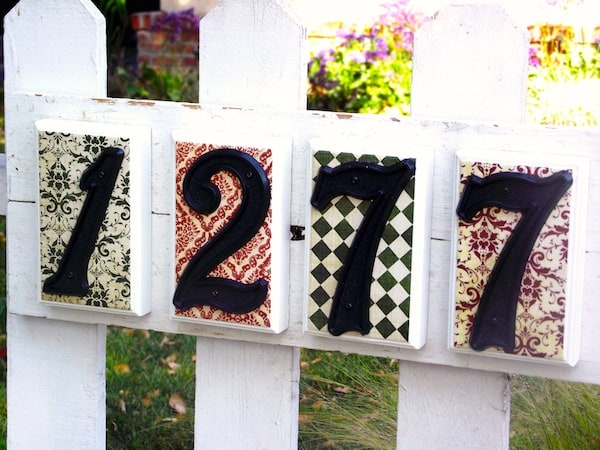 House number sign DIY