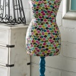 How to decoupage a dress form