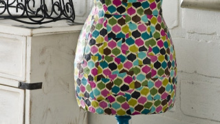 Easy DIY Dress Form Covered in Fabric