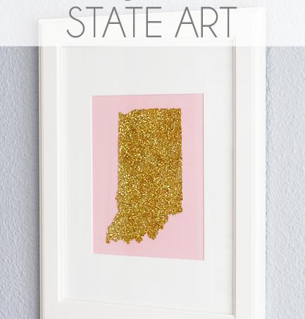 Make glitter state art