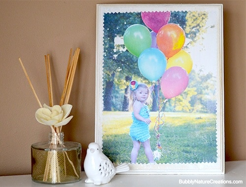 DIY photo transfer to a wood plaque