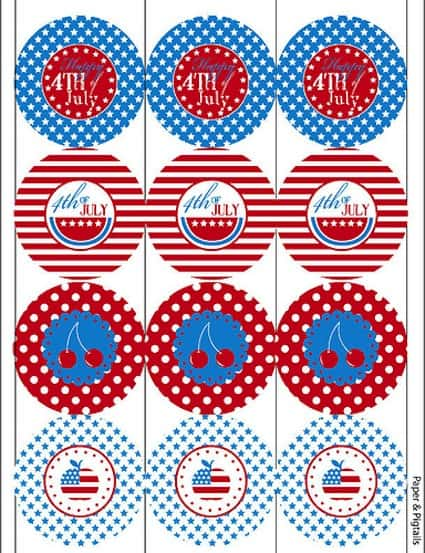 *FREE* 4th of July Printable Party Circles
