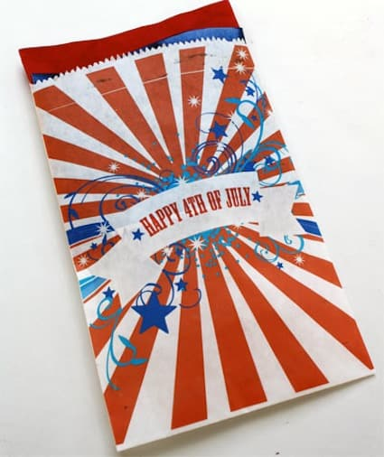 Fourth of July favor bag