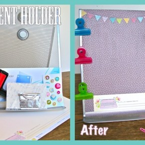 Mod Podge document holder