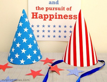 Stars & Stripes Party Hats